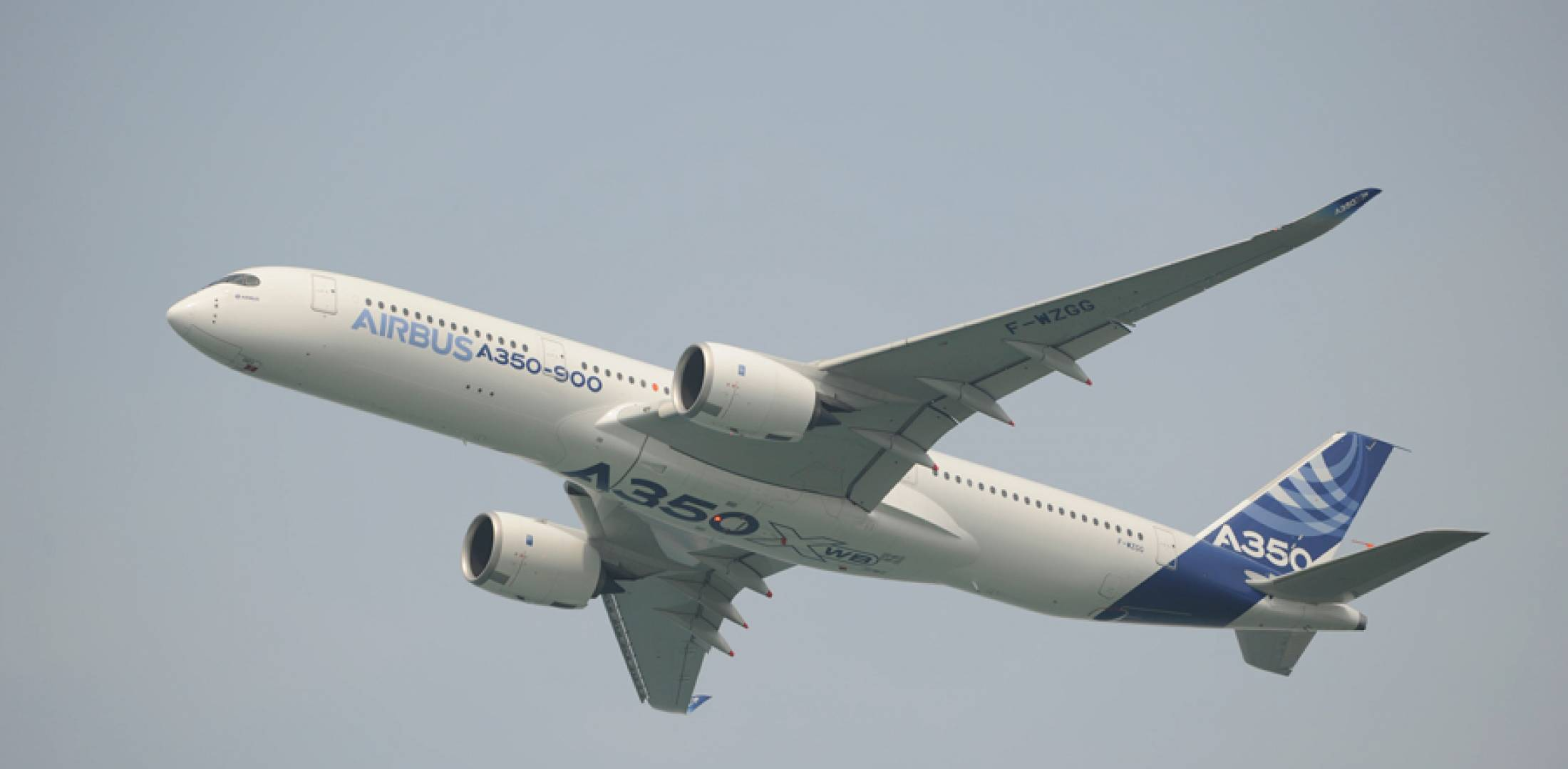 The all-new Airbus A350XWB flew in the Singapore Airshow flight display. (Photo: Mark Wagner)