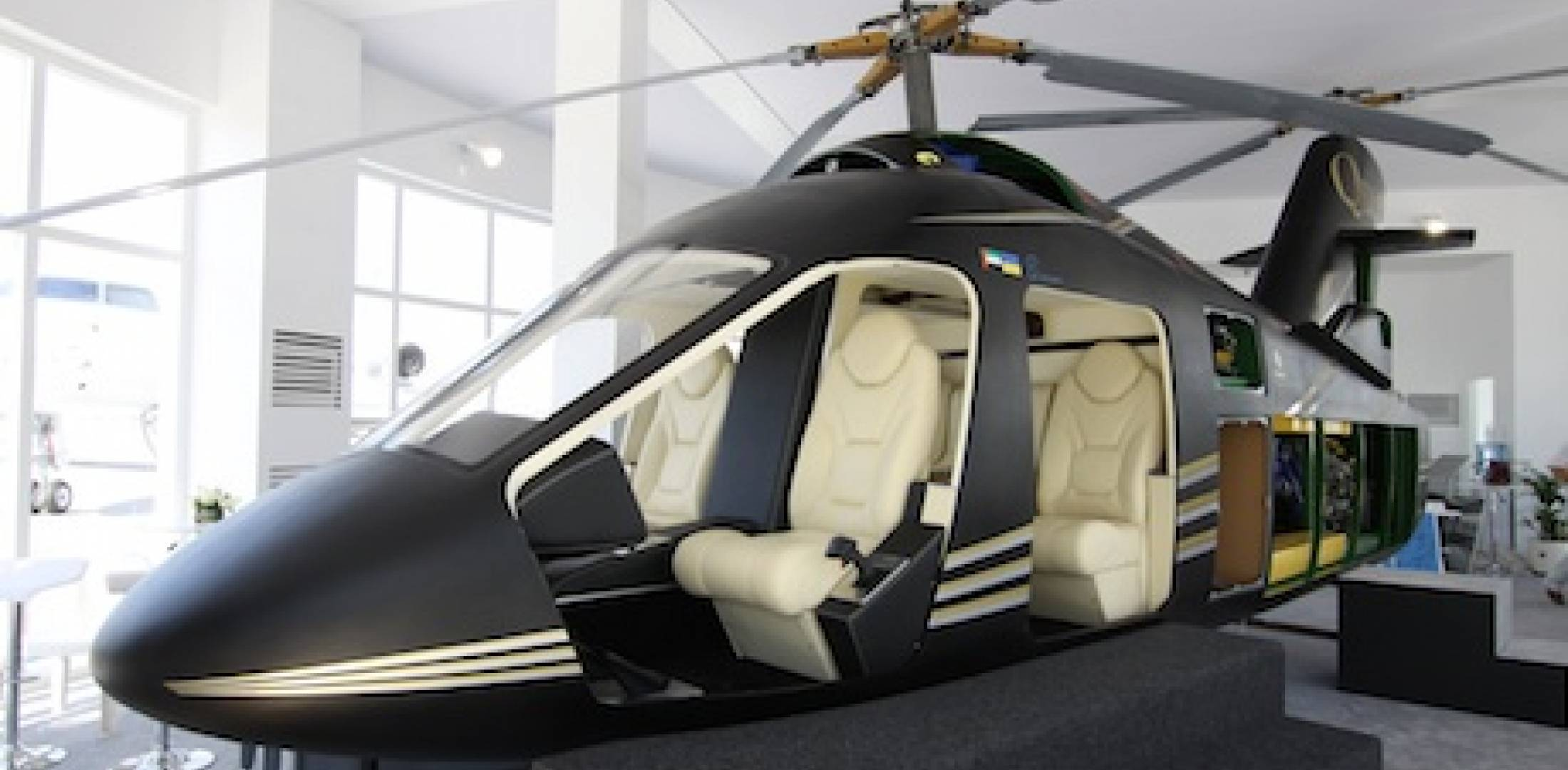 UAE-based Quest Helicopters launched the light twin AVQ at the Dubai Air Show. I