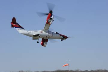 AgustaWestland AW609 demonstration flight