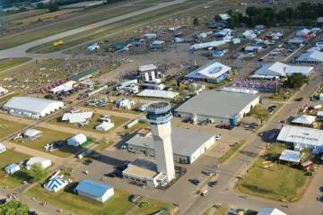 During the week of AirVenture the control tower at Oshkosh is the busiest in the world.