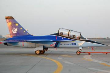 Chinese L-15 jet trainer
