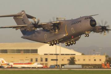 The last A400M development aircraft, MSN6, took off from Seville on December 20.