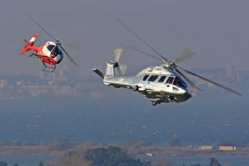 The EC120, left, and the EC175 are two Eurocopter models which have seen improved sales in 2012. The manufacturer has also seen growth in the services sector.