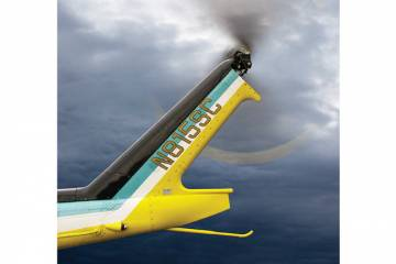 BLR Aerospace's FastFin has been upgraded to include two parallel tailboom strakes and a reshaped vertical fin.