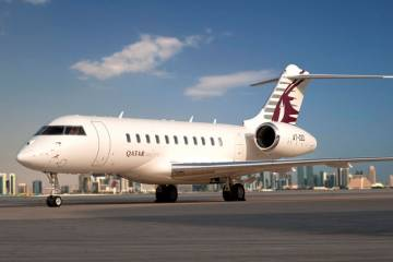 Qatar Airways is stepping up the expansion of the airline's Qatar Executive subsidiary with plans for a private terminal at Doha's new Hamad International Airport, and further expansion of a charter fleet that already counts several Bombardier products, including this Global 5000.