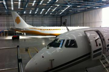 hangar at London Stansted