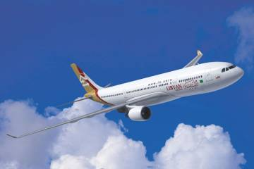 Libyan Airlines.