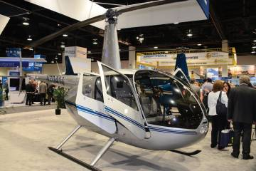 Robinson's piston helicopters, like this R44, could be running on unleaded avgas in the not-too-distant future.
