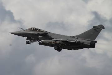 The Dassault Rafale (pictured), Eurofighter Typhoon and Saab Gripen are often in competition for the same export orders.