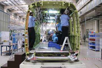 Sikorsky S-92 cabins are now being manufactured in India under a joint venture with Tata Advanced Systems. The facility recently increased production to four units per month.