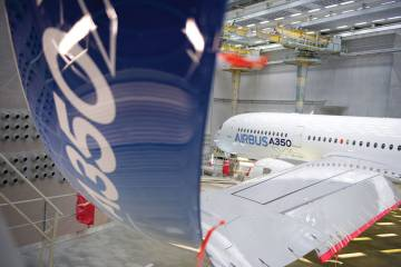 "Since earlier this year GE Aviation has been delivering A350 wing fixed trailing-edge components that include structural composite panels and complex machined assemblies. The company said the work package means that, as a risk-sharing partner, it has ""proved our capabilities and created a secure foundation to build on."""
