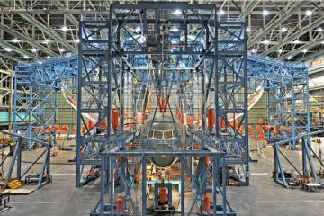 On March 28 Boeing completed the ultimate-load wing-bending test on the 787 D...