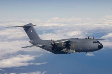 MSN7, the first production A400M, had flown five times by the end of May as part of its acceptance process.
