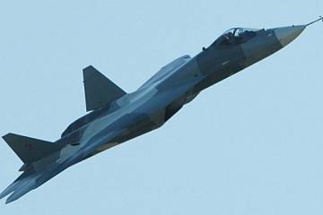 Russia's stealth fighter flies at MAKS 2011. (Photo: Vladimir Karnozov)