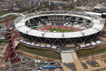 The Olympic Stadium in East London will serve as centerpeice for the Games this summer.