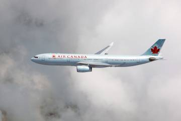 The Engage Corridor Project's first trial flight of an Air Canada A330 on Aug