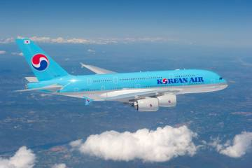 Airbus delivered Korean Air's first A380 today during a ceremony in Toulouse....