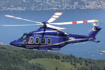 Medium twins such as the AW139 (shown), 149 and 189 are likely to  be the first helicopters manufactured by the joint venture between Embraer  and AgustaWestland.