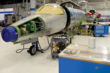 First production Bombardier Learjet 75.