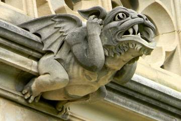 One of the gargoyles on the National Cathedral in Washington, D.C.