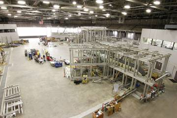 Bombardier's Learjet 85 is currently undergoing testing at NIAR's Aircraft Structural Testing and Evaluation Center. The facility provides almost any necessary structural test, from testing a full-scale aircraft to testing at the coupon level.