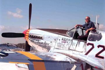 Kermit Weeks and P-51 Mustang
