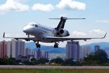 Embraer Legacy 500 on its first flight.