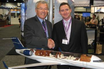Flying Colours CEO John Gillespie (left) and Nick  Houseman, president of Sil...