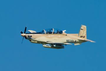 First flight of production AT-6 light attack aircraft