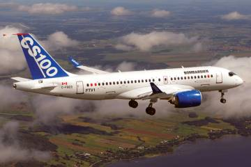 Bombardier CSeries First Flight