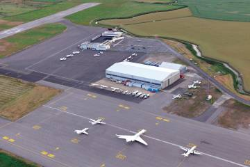 Lydd (London Ashford Airport) recently made progress in its bid to attract more aircraft traffic, having secured approval for a runway extension and a new terminal. (Photo: Mark Wagner)