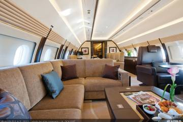 5,300 cu ft of cabin space in the ACJ319 gives a lot of room for eight to 18 passengers to experience a really comfortable ride.