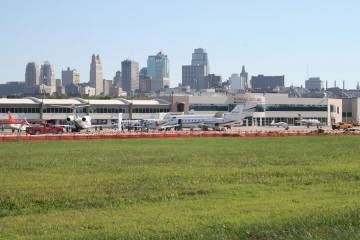 Kansas City International Airport and Charles B. Wheeler Downtown Airport.