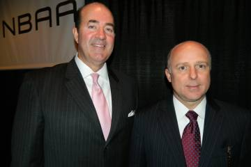 Mark Burns, left, president of Gulfstream Aerospace product support, and Scott Neal, senior vice president of sales and marketing