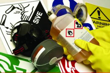 Hazmat manufacturers have until mid-2015 to begin using the new pictogram symbols on their products.