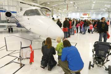 Learjet employees brought their families to the event for an up-close-and-personal look at the fruits of their labors.
