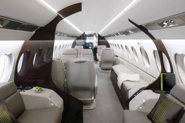 Luxurious Falcon 5X cabin, entirely redesigned