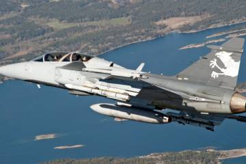 The Gripen has emerged as Brazil's choice of a new fighter after years of evaluation against the Boeing Super Hornet and Dassault Rafale. (Photo: Saab)