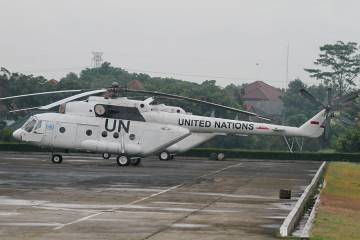 This Mi-17-V5 was one of three operated by the TNI-AD's (Indonesian Army Aviation) SkUAD 31 squadron at Achmad Yani, Semerang, and was sent to  South Sudan for use by the United Nations.
