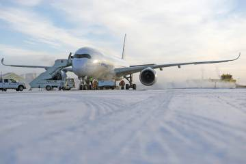 Airbus's A350 XWB MSN 003 completed cold weather testing in Iqaluit, Canada, on January 28, just ahead of the Singapore Airshow. At the show, the OEM is presenting its twin-aisle A350-900, which is making its first full international airshow display. Here in Singapore this week, industry observers will be keen to understand the manufacturer's plans for the smaller A350-800, which has seen a steady erosion of orders as customers have upgraded to the baseline model.