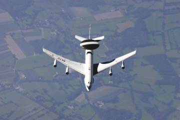 NATO will fly E-3 Awacs aircraft over Poland and Romania to monitor events in Ukraine. (Photo: NAEWF)