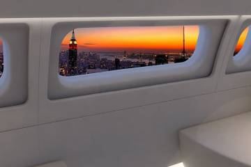The BBJ will feature a new 54.5-inch panoramic window that will bring much more light into the cabin and offer magnificent views for passengers.