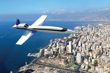 Supersonic business aircraft such as this concept from Spike Aerospace could  be carrying passengers on transoceanic routes within six to eight years.