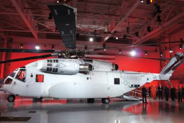 "The CH-53K ""King Stallion,"" one of the first all-digitally designed helicopters, was assembled inside a 3-D virtual reality lab at Sikorsky's headquarters before any metal was cut or composites were laid out."