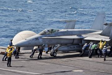 U.S. Navy F/A-18C Hornet in the Arabian Gulf