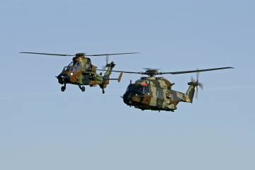 Tiger HAD attack and NH-90 transport helicopters