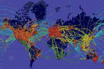 Rockwell Collins flight tracking solution map