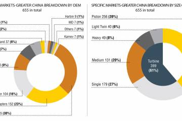 Specific Markets Greater China Breakdown by OEM & Size Category–655 in total. (Illustrations courtesy of Asian Sky)