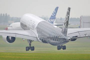 Airbus aircraft taking off