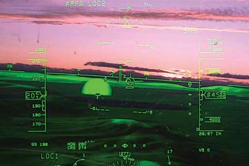synthetic vision display
